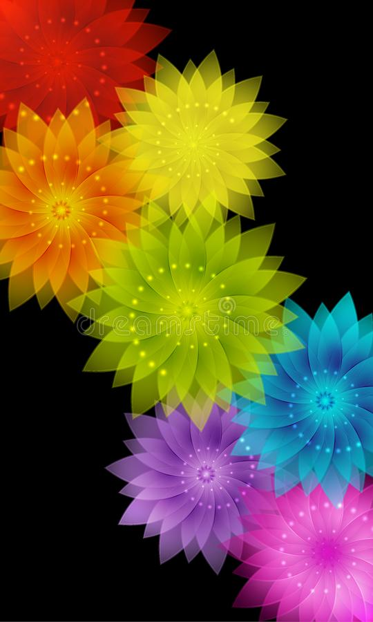 Free Vector Abstract Colorful Rainbow Floral Background Stock Photos - 104091743