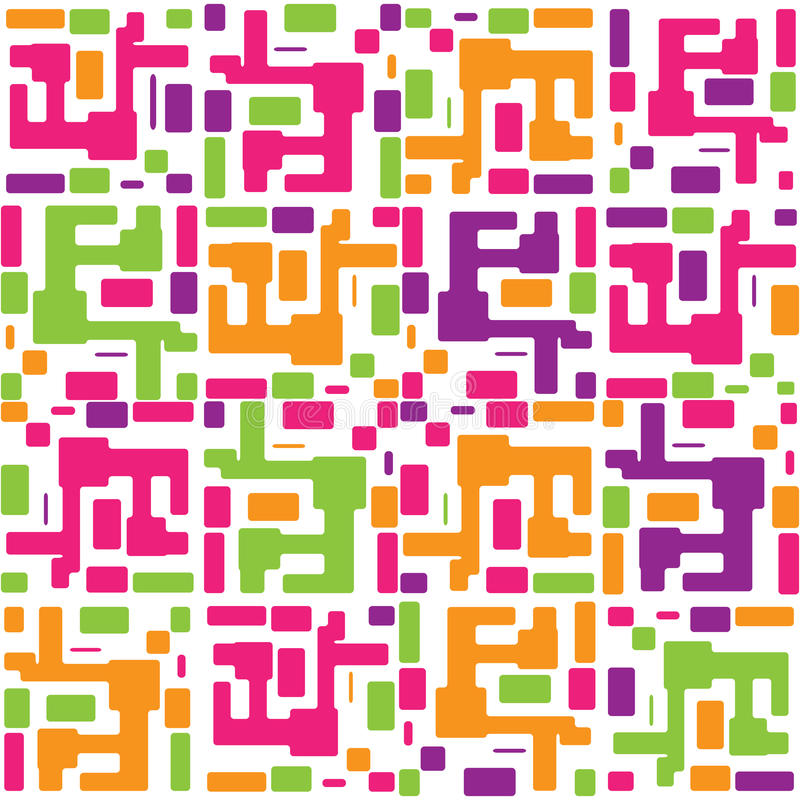 Vector abstract colorful seamless pattern backgrou
