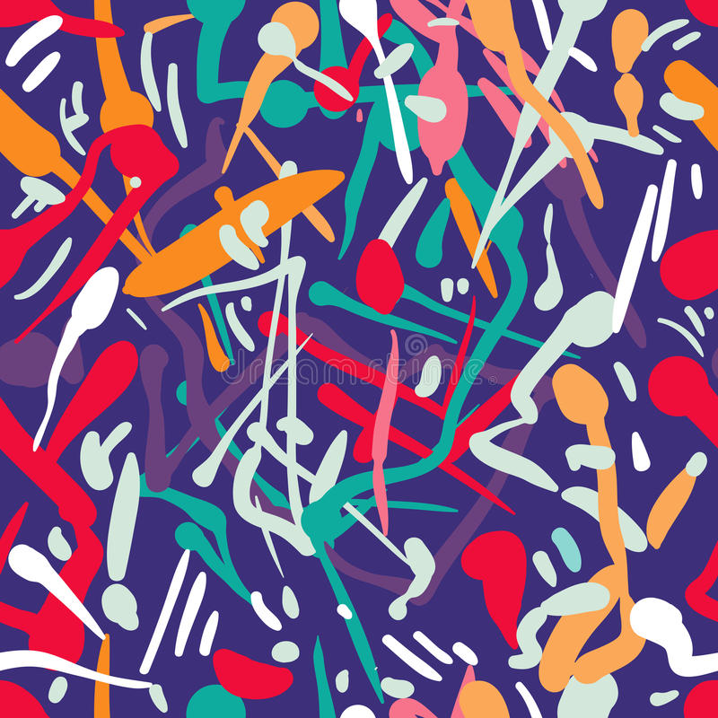 Vector abstract colorful seamless pattern stock illustration