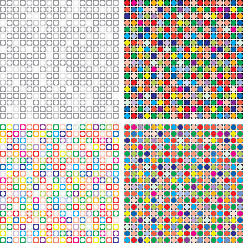 Free Vector Abstract Colorful Tile Backgrounds Royalty Free Stock Photography - 23992647