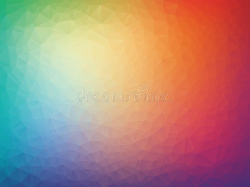 Vector abstract colorful triangles geometric background royalty free illustration
