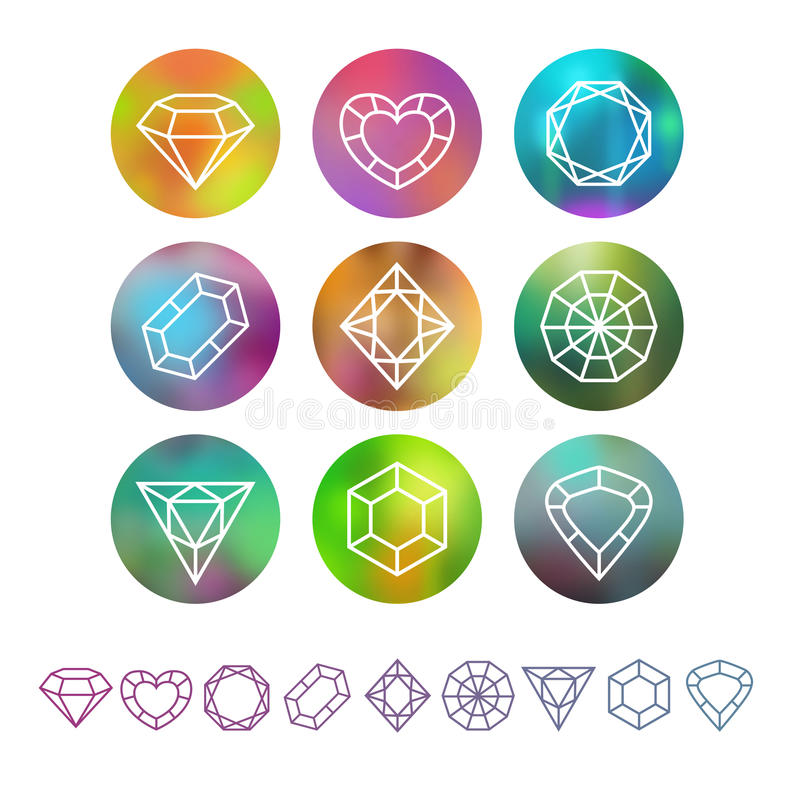 Vector abstract crystal monograms royalty free illustration
