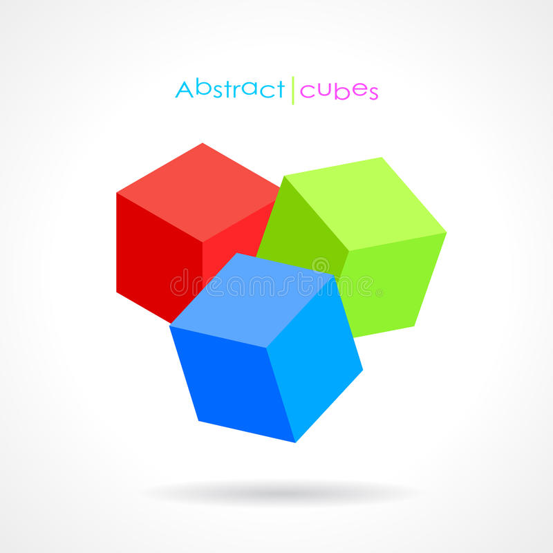 Vector abstract cubes royalty free illustration