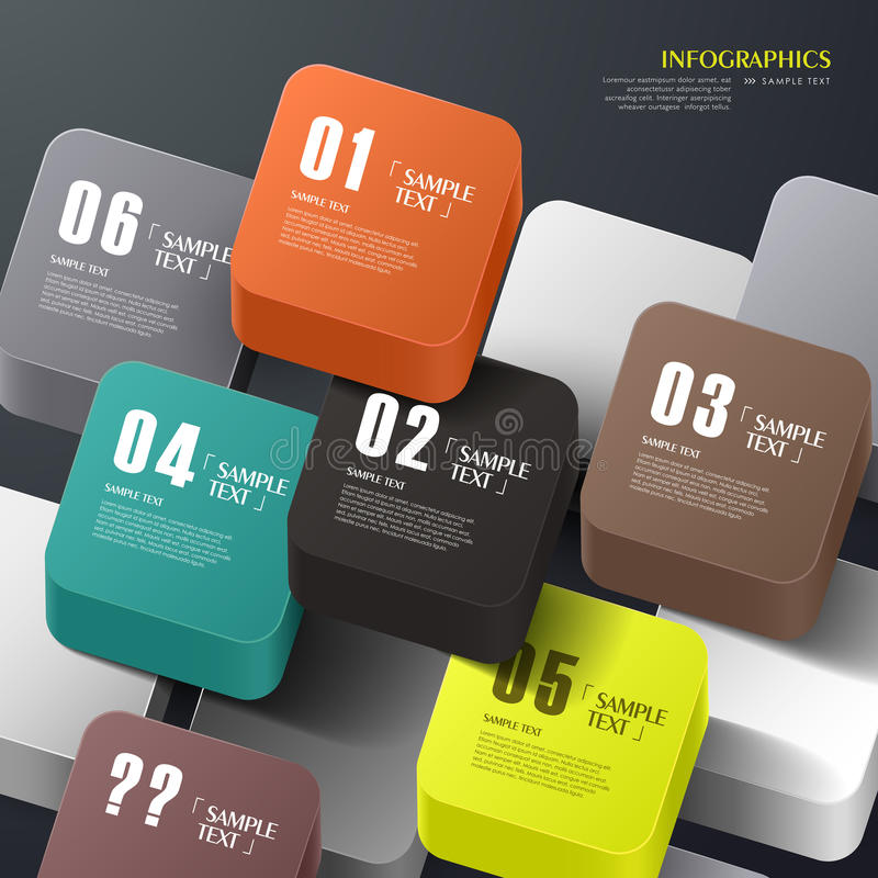 Vector abstract 3d cube infographics vector illustration