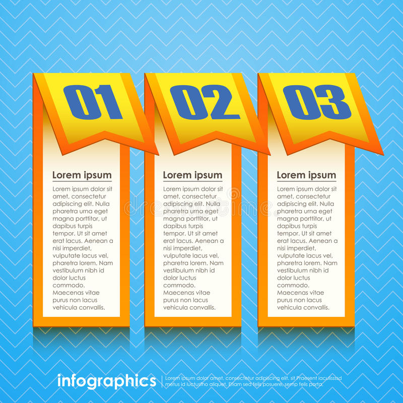 Vector abstract 3d paper infographics vector illustration