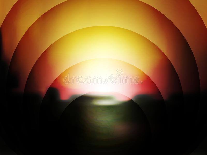 Vector Abstract Dark Background of Sunset vector illustration