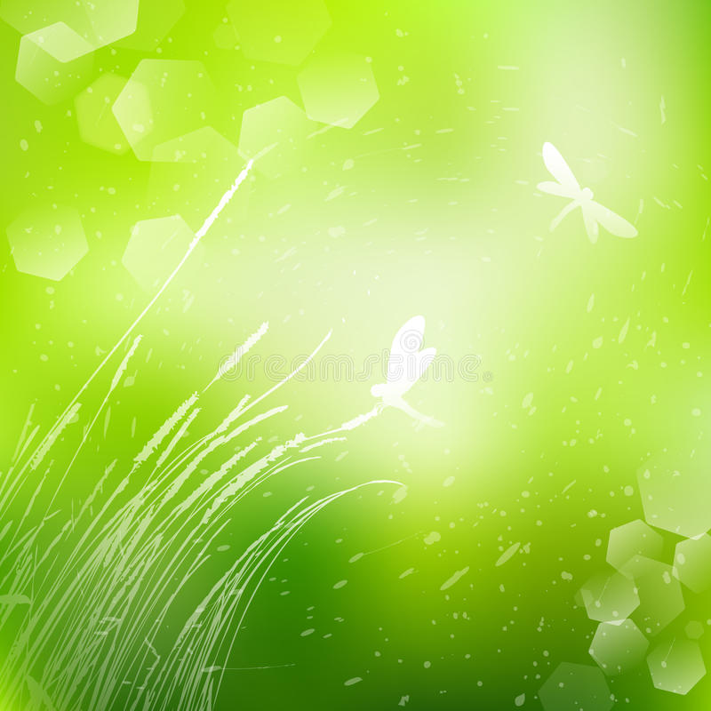 Vector abstract defocused bokeh lights nature spring summer background. Stylish hipster blurry background with bokeh effect for ho vector illustration