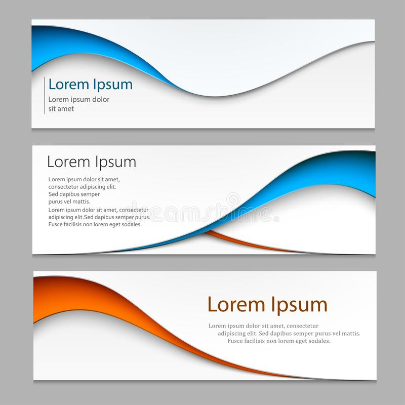 Vector abstract design banner . A set of banner web templates. Eps10 vector. stock illustration