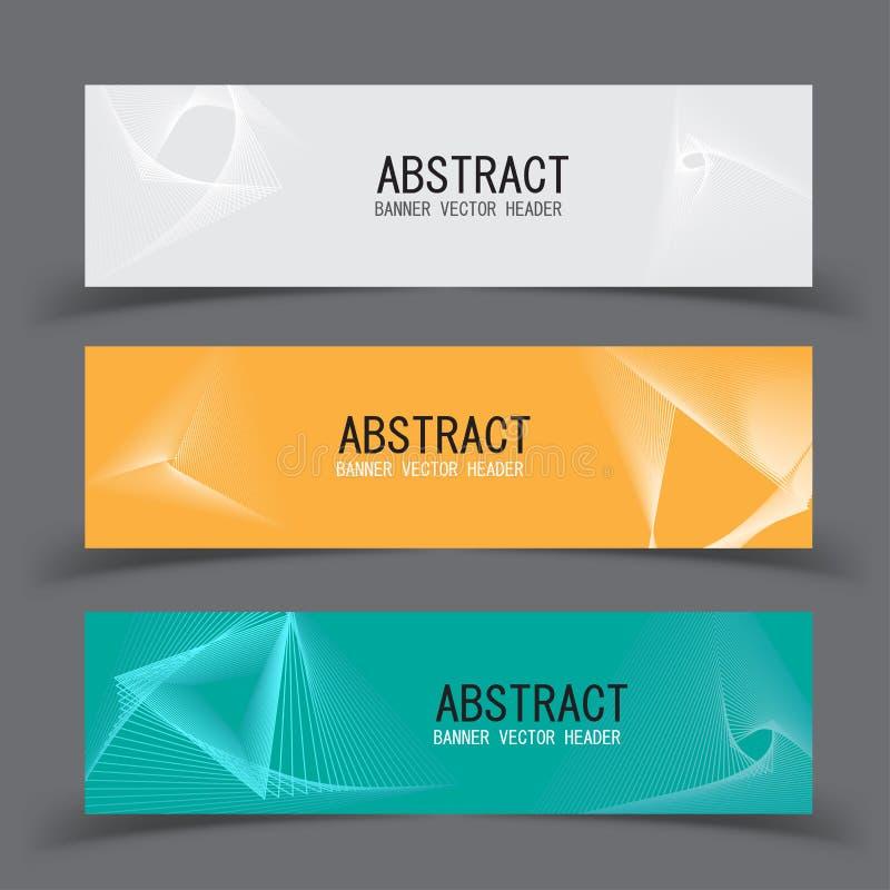 Vector abstract design banner template.vector illustration stock illustration