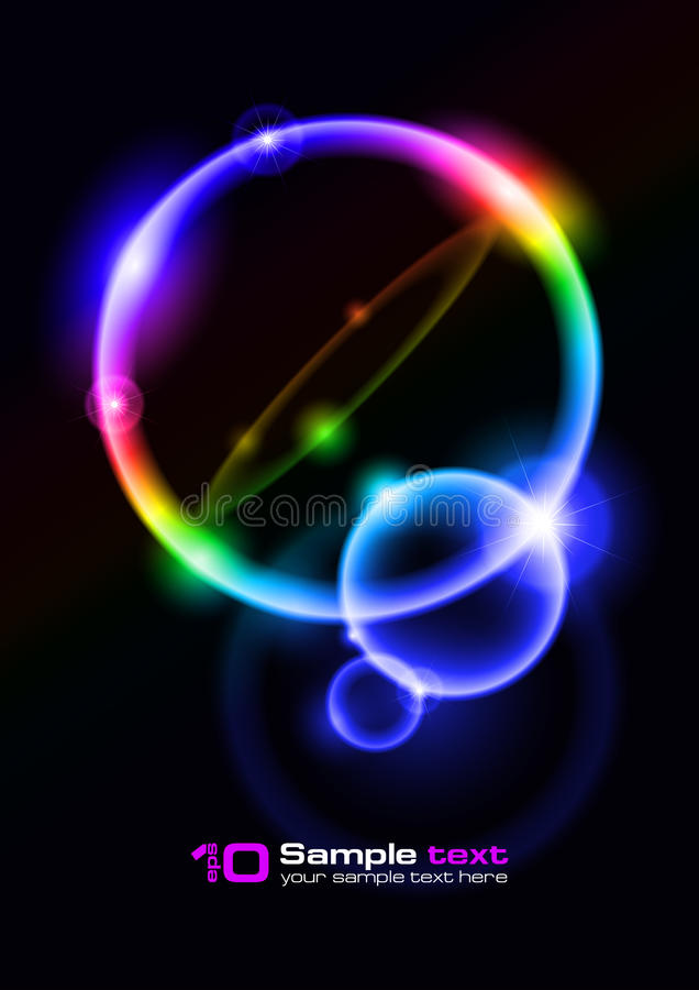 Vector abstract design. Bubbles. vector illustration