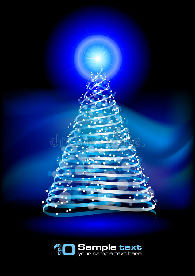 Vector Abstract Design. Christmas Tree. Royalty Free Stock Photography