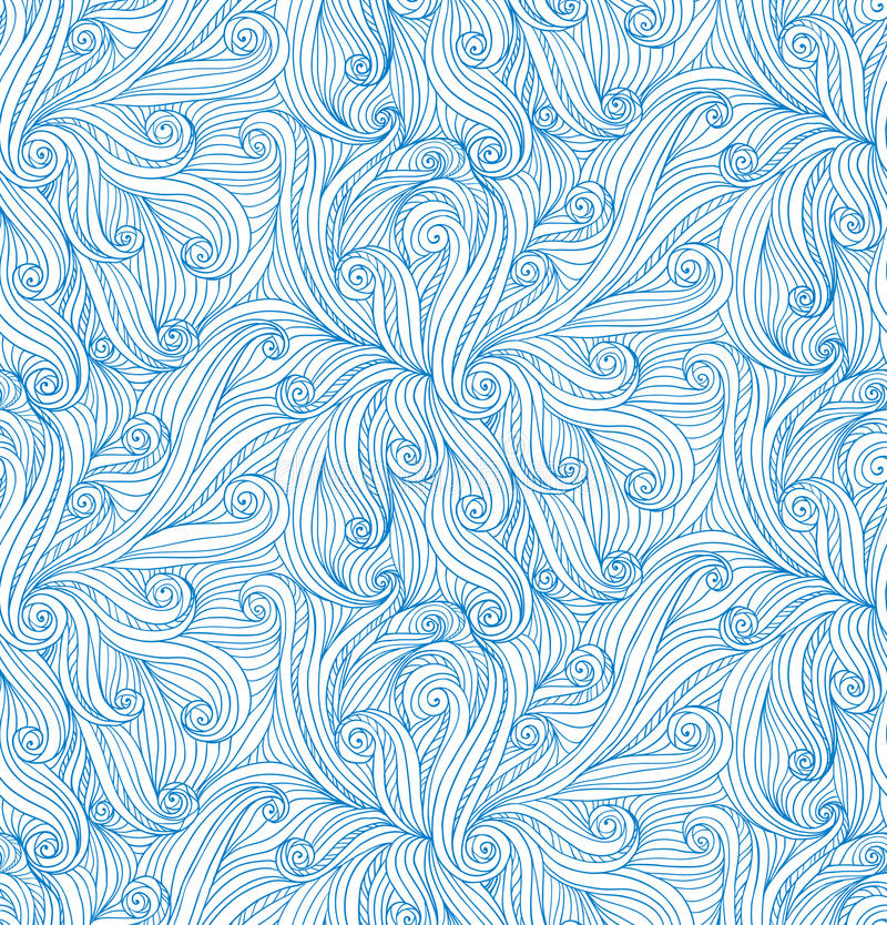 Download Vector Abstract Doodle Curves Seamless Pattern Stock Photography - Image: 28000372