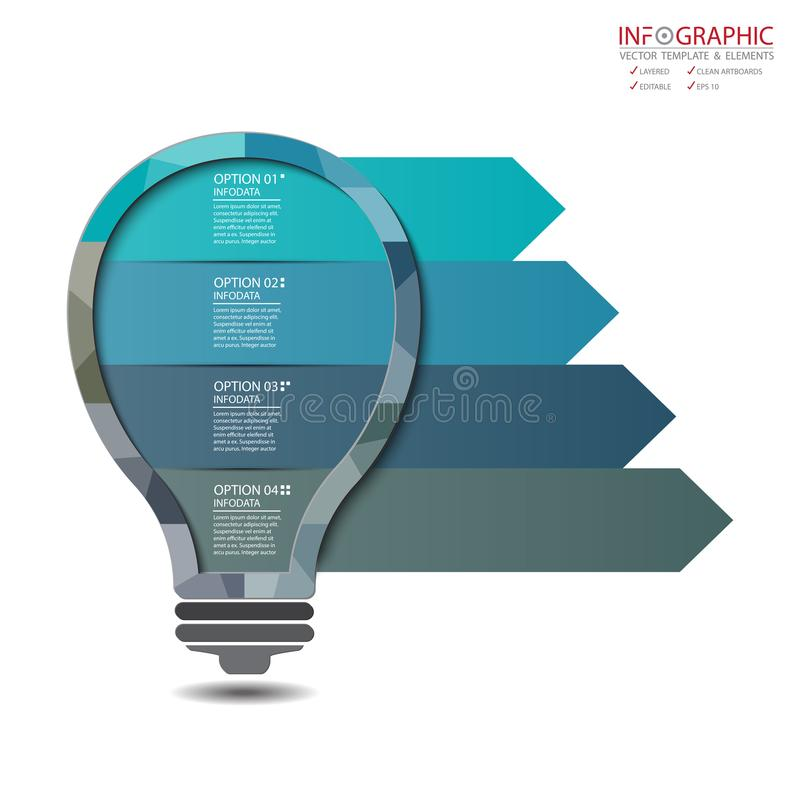 Vector abstract element infographics 4 option. Design for business or finance template layout, brochure, workflow, information or. Presentation and other. Can royalty free illustration