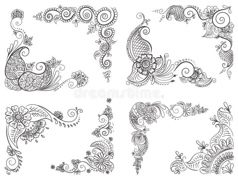 Henna Tattoo Vector: Abstract Pattern Of A Tattoo Henna Stock Vector