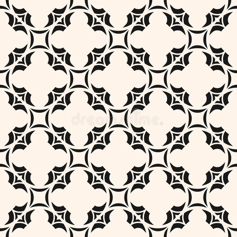 Vector abstract floral seamless pattern, monochrome ornamental background. vector illustration