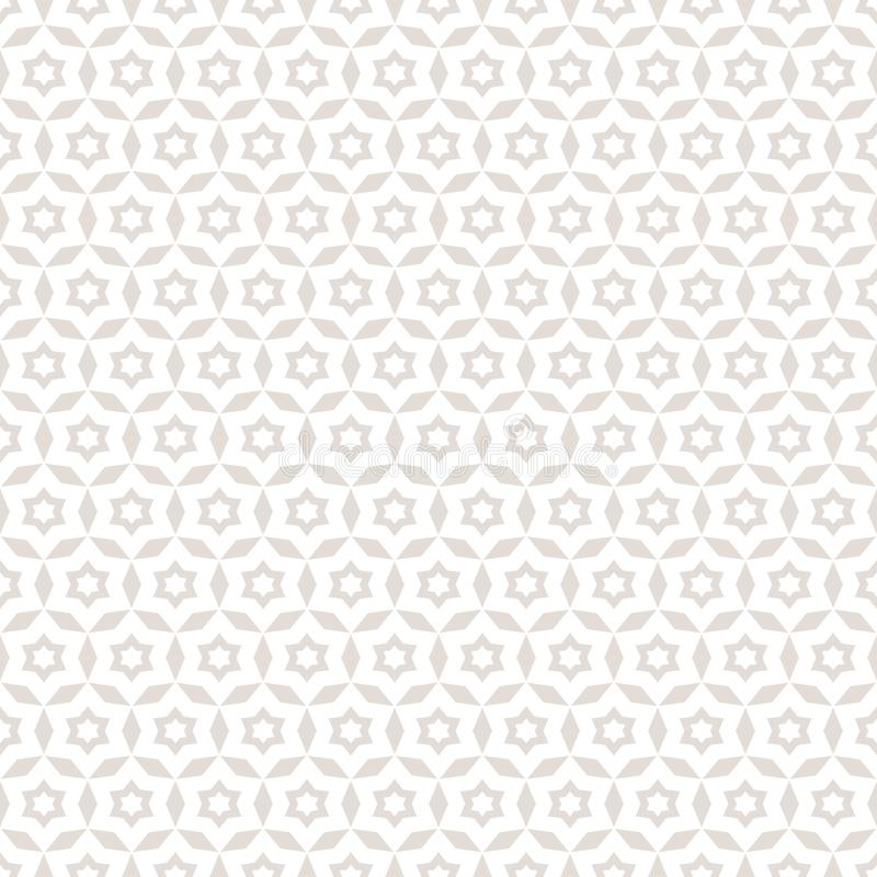Vector abstract floral seamless pattern. Subtle white and beige background. royalty free illustration