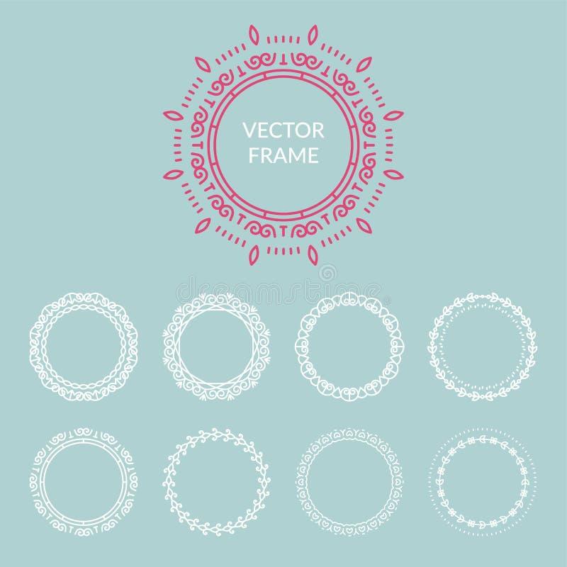 Vector abstract frame design templates vector illustration
