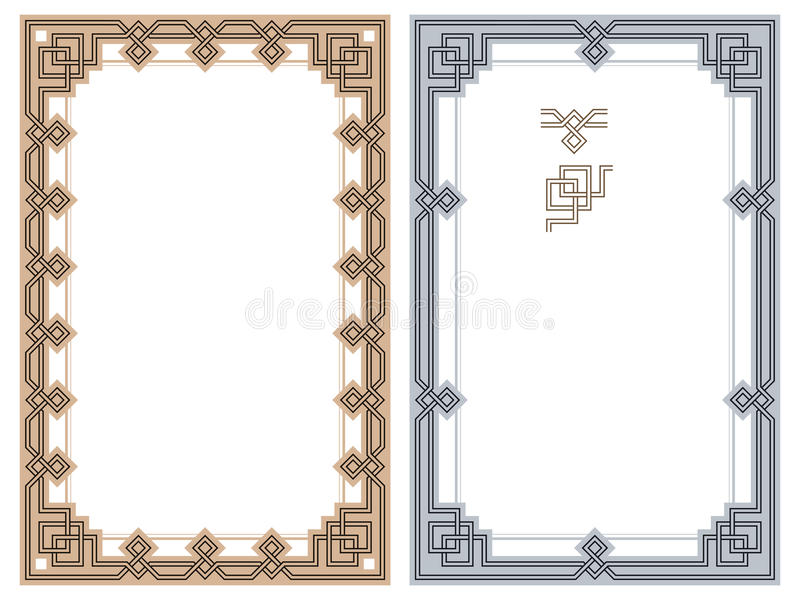 Vector abstract framework from the bound lines. Ð¡eltic motifs vector illustration