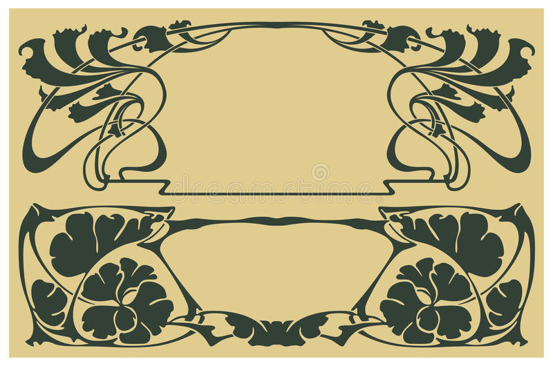 Vector abstract framework. From the bound plants for decoration and design vector illustration