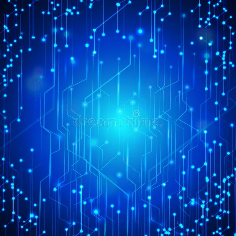 Vector Abstract futuristic circuit board. computer technology da royalty free illustration
