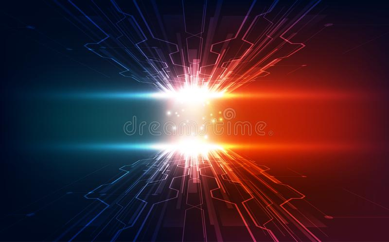 Vector Abstract futuristic high speed, Illustration high digital technology blue color. Innovation royalty free illustration