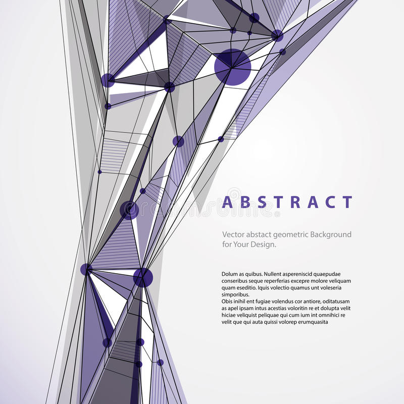 Download Vector Abstract Geometric Background, Contemporary Style Illustr Stock Vector - Image: 43600687
