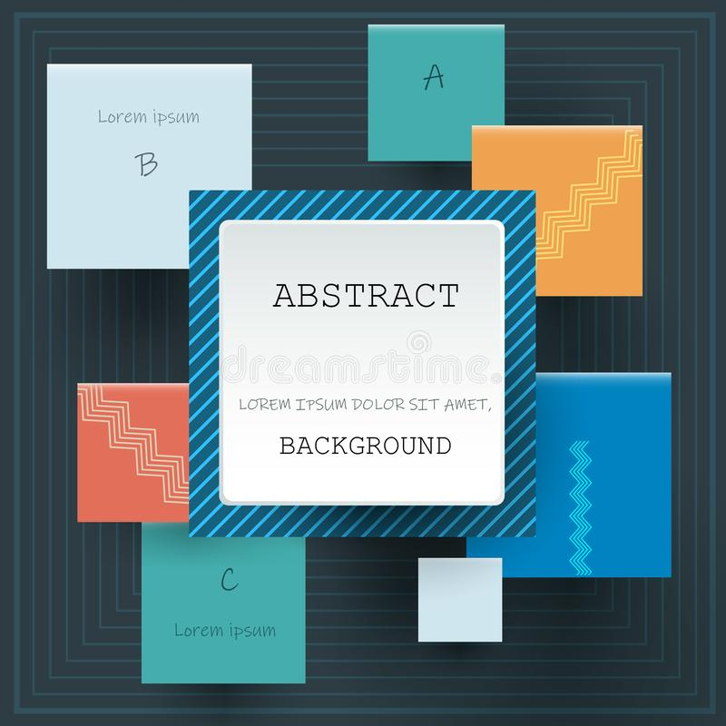 Vector abstract geometric background 9-18-18-1 stock illustration