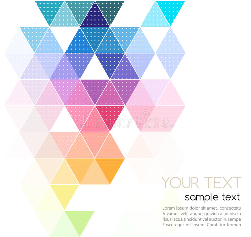 Vector Abstract Geometric Banner With Triangle Stock