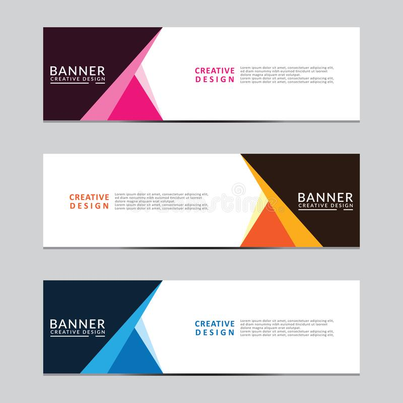 Vector abstract geometric design banner web template. Modern design. royalty free illustration