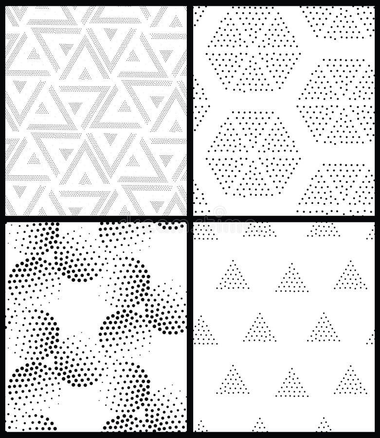 Pointillism Black And White Geometric