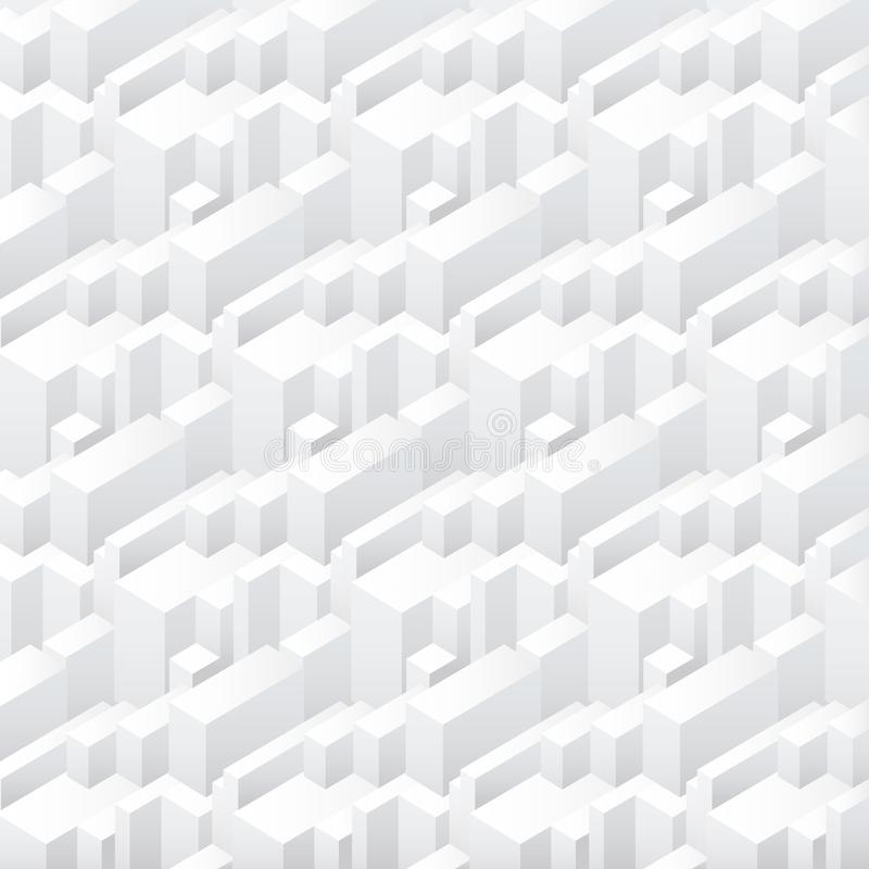 Vector abstract geometric seamless simple skyscrapers buildings repeating pattern background. vector illustration