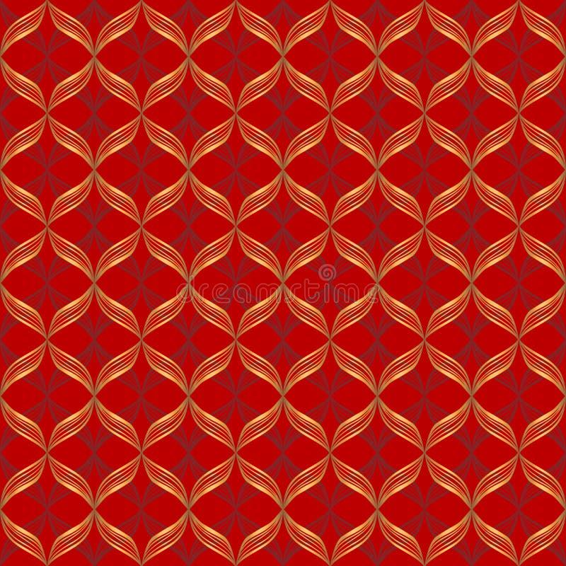 Vector abstract geometrisch naadloos patroon royalty-vrije illustratie