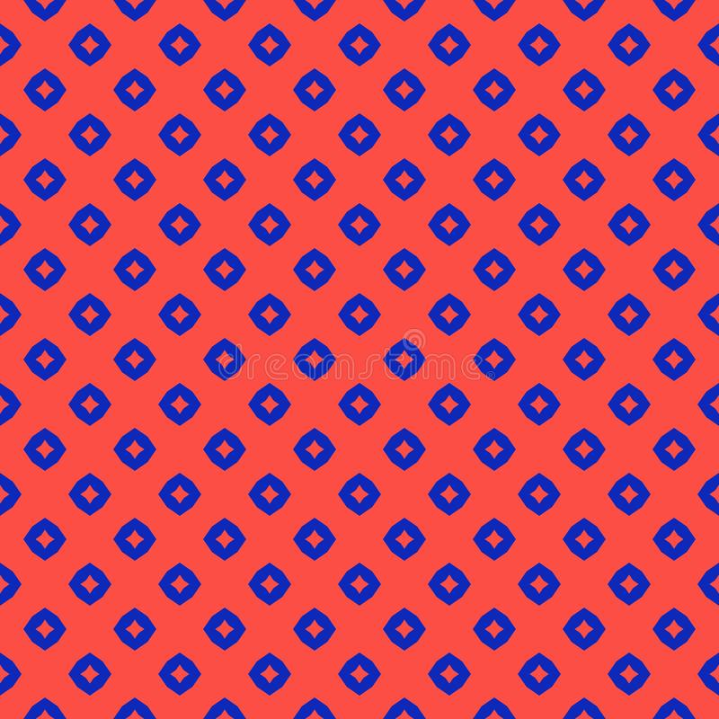 Vector abstract geometrisch naadloos patroon Heldere kleurrijke rode en blauwe achtergrond vector illustratie