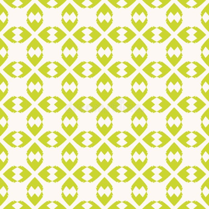 Vector abstract geometrisch naadloos patroon met groene vormen, bladeren, ruiten vector illustratie