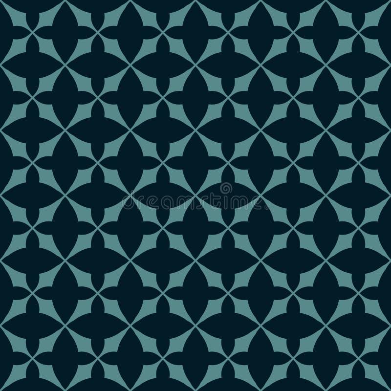 Vector abstract geometrisch naadloos patroon Zwarte en wintertalings oosters ornament vector illustratie