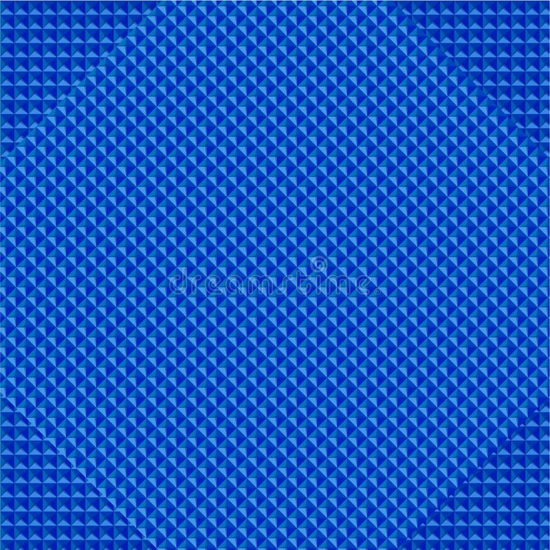 Vector Abstract geometry triangles bright blue stock illustration