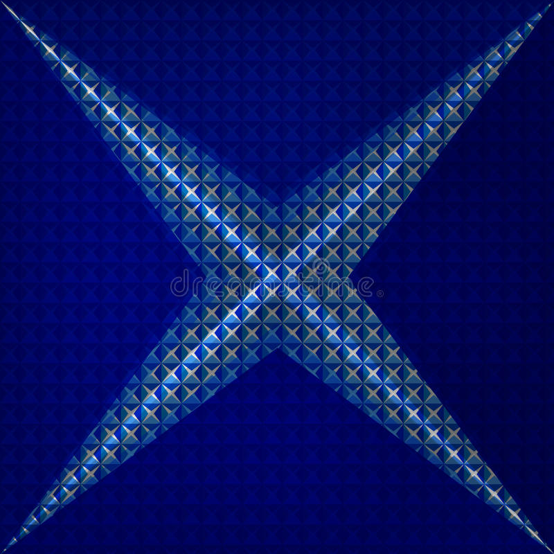 Vector Abstract geometry triangles bright blue royalty free illustration