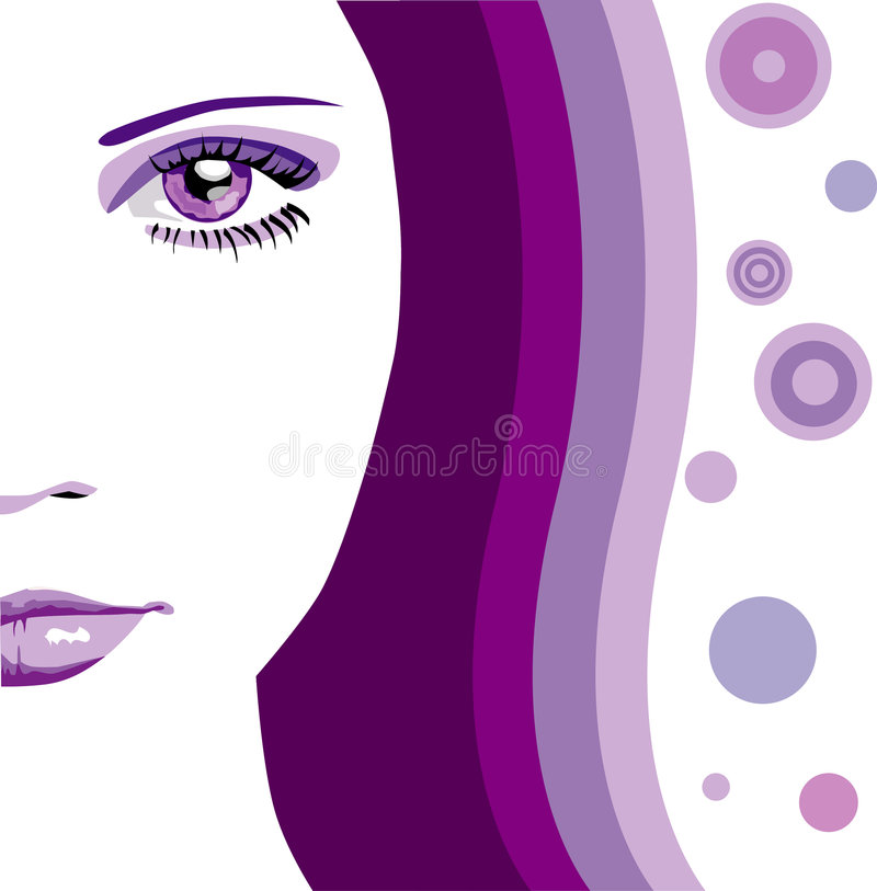 Vector abstract gezicht stock illustratie