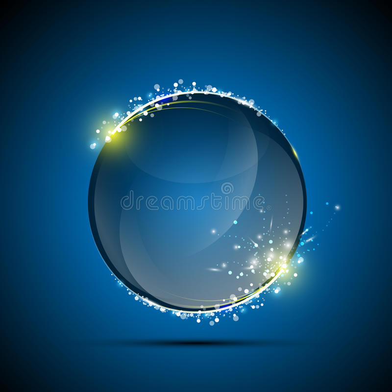 Vector abstract glossy sphere exploding stock illustration