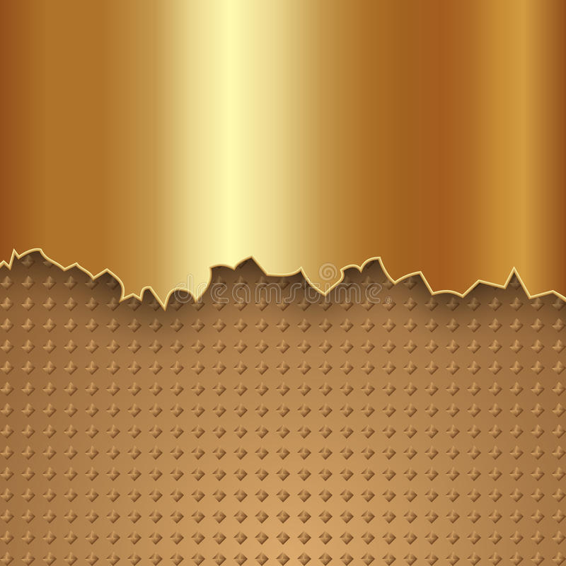 Vector abstract gold metal background stock illustration