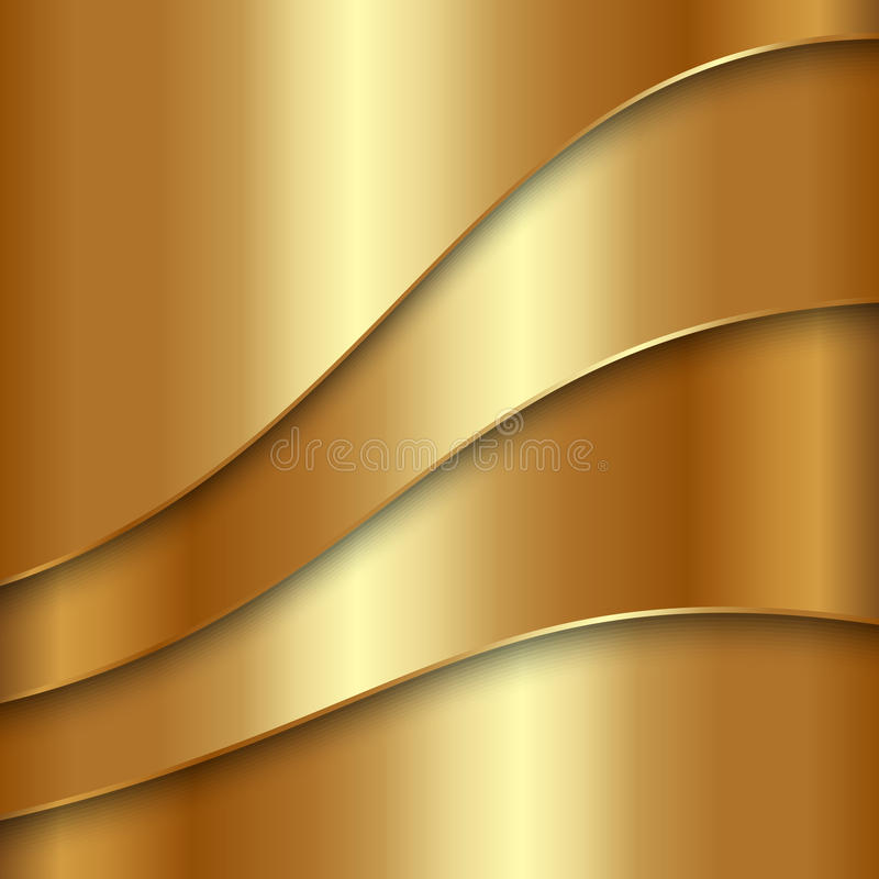 Vector abstract golden metallic background with stock illustration