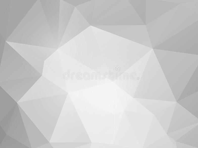 Vector abstract gray paper triangles background stock illustration