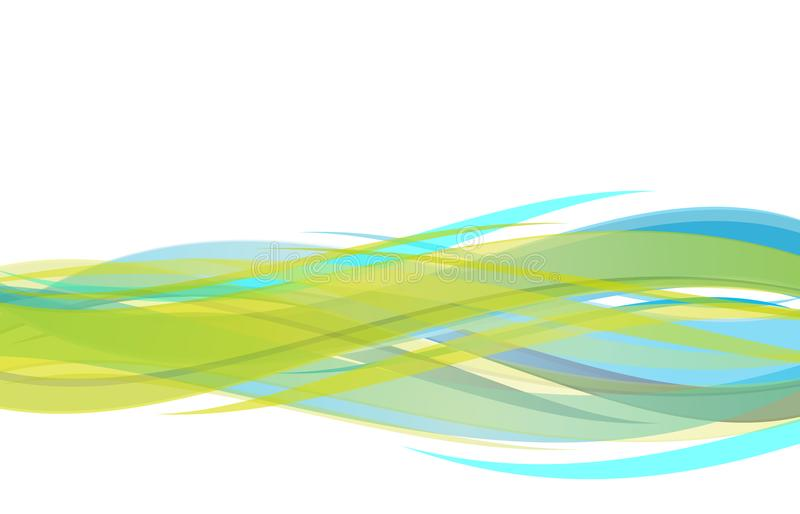 Vector abstract green blue and yellow wavy background, wallpaper for any design. vector illustration