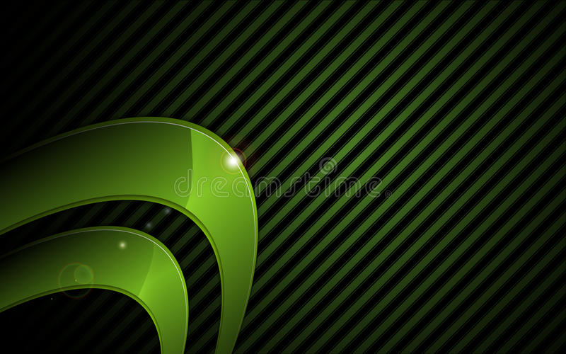 Vector abstract green metallic graphic frame hi tech concept background royalty free stock photo