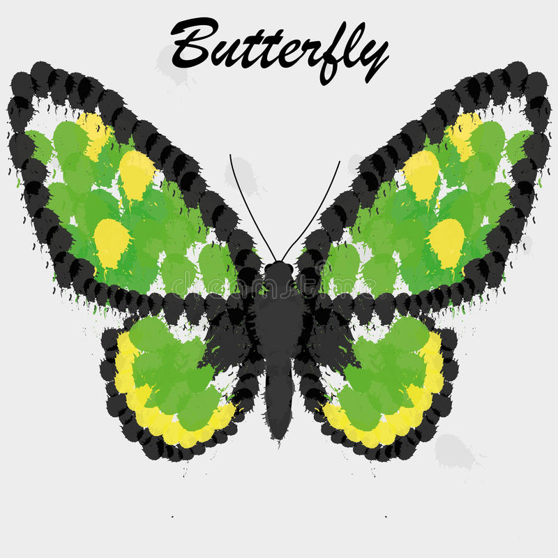 Vector Abstract Green And Yellow Butterfly Background. A Vector Abstract Green And Yellow Butterfly Background royalty free illustration