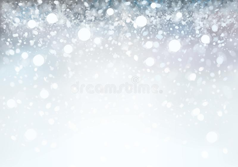 Vector abstract, grey, bokeh background. vector illustration