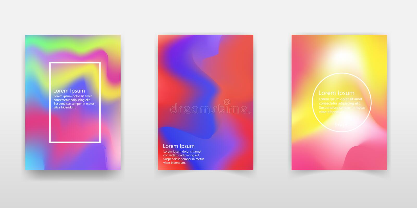 Vector abstract holographic background 80s - 90s, trendy colorful texture in pastel / neon color design. For your creative project stock illustration