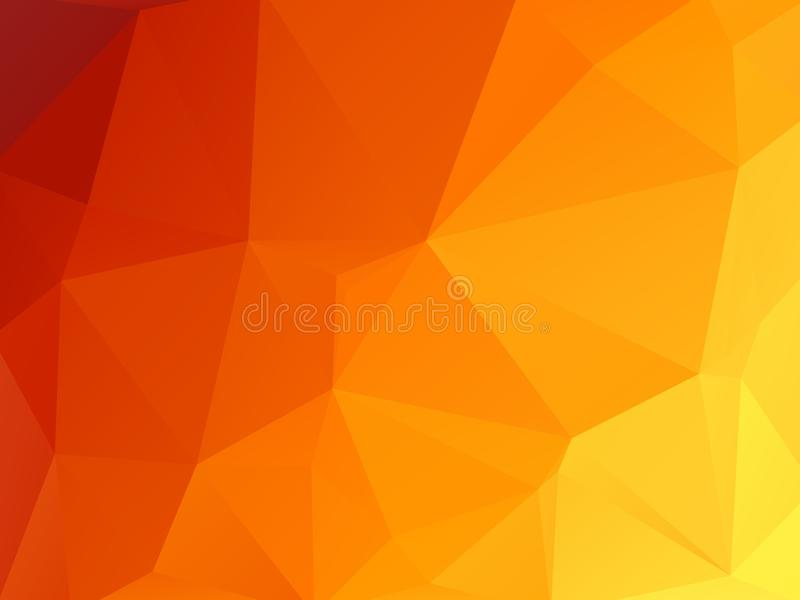 Vector abstract hot triangles geometric background royalty free illustration