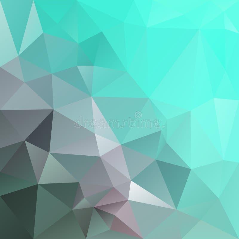 Vector irregular polygonal background - triangle low poly pattern - blue green cyan lagoon aqua color. Vector abstract irregular polygonal background - triangle vector illustration