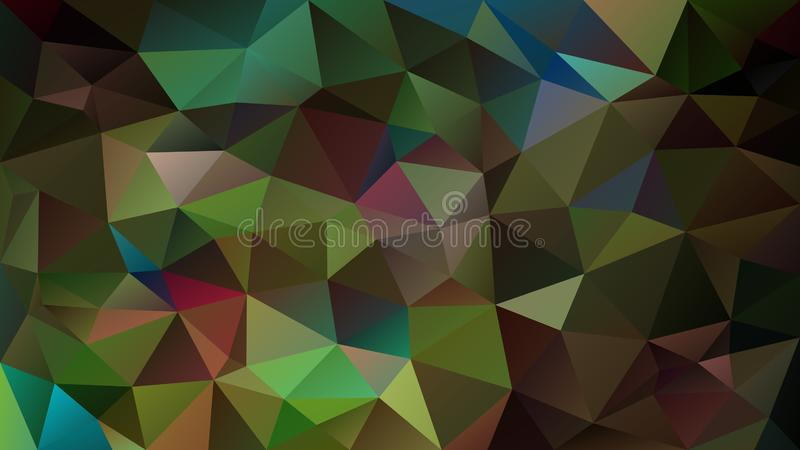 Vector irregular polygonal background - triangle low poly pattern - peacock feather shades of green, blue and purple colo. Vector abstract irregular polygonal vector illustration